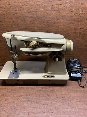 Singer 500A Slant-O-Matic Rocketeer Sewing Machine for Parts or Repairs