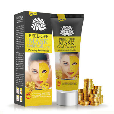24K Gold Collagen Facial Face Mask Moisture Anti Aging Remove Wrinkle Care CW 1P