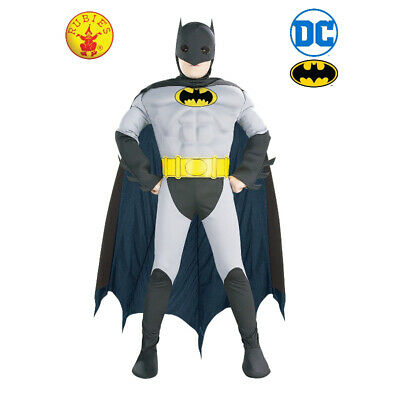 The Batman Licensed Dc Comics Deluxe Children's Costume Size S By Rubie's **New*