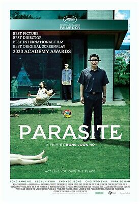 Parasite Movie Poster 24x36 Inch Wall Art Portrait Print - Winner Best Film 2020