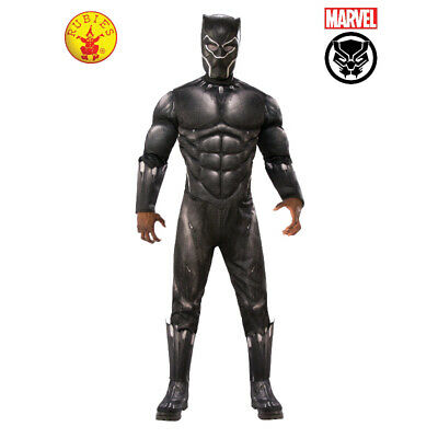 BLACK PANTHER LICENSED AVG4 DRESS UP COSTUME 2 x SIZES BY RUBIE'S **NEW**