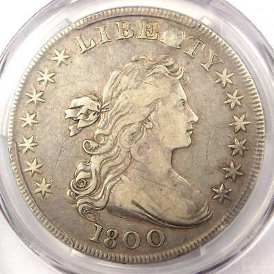 1800 Draped Bust Silver Dollar $1 - Certified PCGS VF Details - Rare Coin!