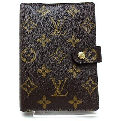 Authentic Louis Vuitton Diary Cover Agenda PM Browns Monogram 1303296