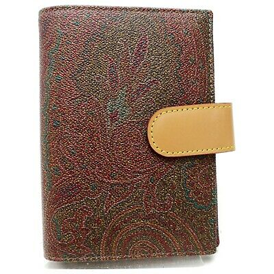Authentic Etro Diary Cover  Browns PVC 903801