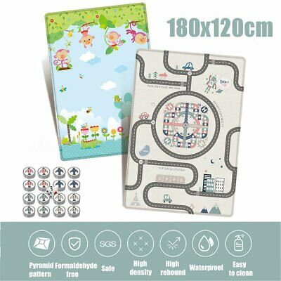 180x120x1cm Waterproof Baby Crawling Thick Play Cover Mat Game Rug Floor  DA
