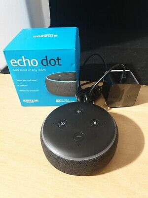 Amazon Echo Dot (3rd Generation) Smart Alexa Speaker - Charcoal - FAULTY