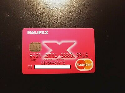 UK, London - HALIFAX bank expired MASTER credit card - RARE