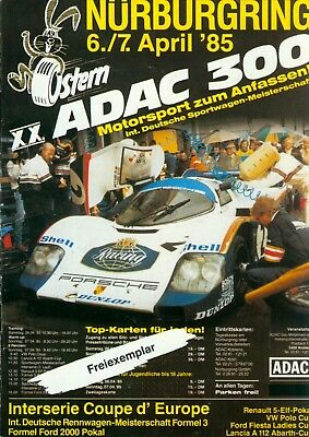 1985 DTM Programm 300 km Rennen Nuerburgring Interserie CanAM F3 VW Polo R5 Cup