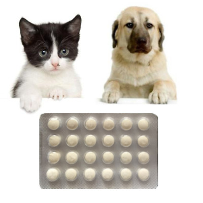 48 Tabs, Dog and Cat Wormer, Worming Tablets, Dewormer+Drontal for Cats 4 Tabs
