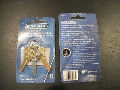 Schlage Re-Key Kit Sc1 68 New