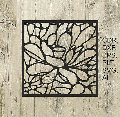 Panel 001, Vector files for cnc, digital files cdr, dxf, eps, ai, svg, plt