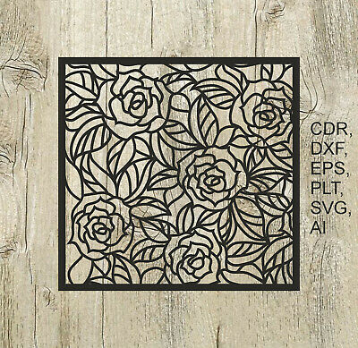 Panel 004, Vector files for cnc, digital files cdr, dxf, eps, ai, svg, plt