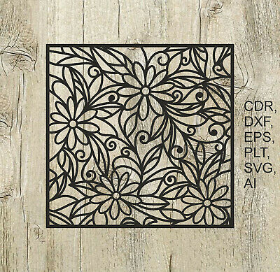 Panel 005, Vector files for cnc, digital files cdr, dxf, eps, ai, svg, plt
