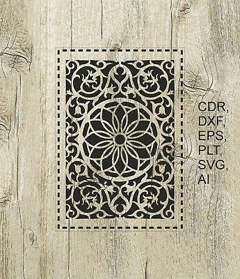 Panel 006, Vector files for cnc, digital files cdr, dxf, eps, ai, svg, plt