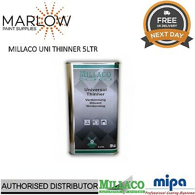 Millaco Uni Thinner 5L - Universal 2K Reducer Basecoat Primer Lacquer Paint