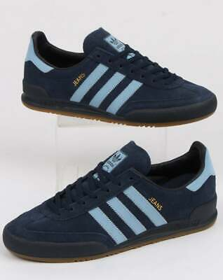 adidas Jeans Trainers in Navy Blue & Sky - Originals, suede, shoes