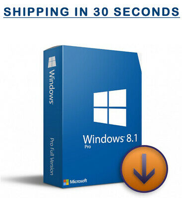 Microsoft Windows 8.1 Pro Prefessional - 32/64bit - Original Key - Multilingual