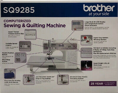 SEALED Brother SQ9285 150 Stitch Computerized Sewing /& Quilting Machine