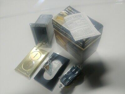 """Raco Floor Box Outlet Kit 6500BR Polished Brass 2""""X4""""X3.75"""" Deep NOB"""