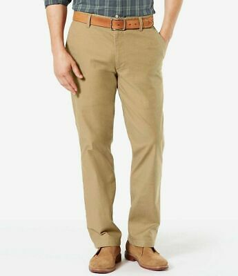 DOCKERS On-The-Go Straight Fit The Broken In Pants Mens Reddish NEW 6975
