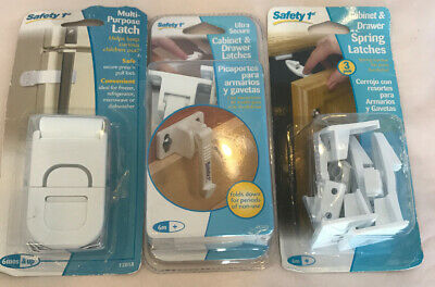 Safety 1st Spring Loaded Cabinet Drawer Latches Fridge and Spring Latch