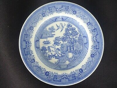 vintage spode the blue room willow pattern miniature dinner plate dolls house