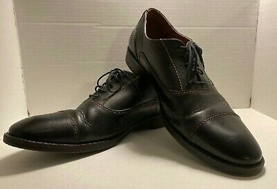 JOHNSTON /& MURPHY Tabor Cap Toe Derby Leather Brown Size 9.5M