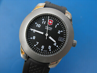 Swiss Army Military Watch Field Issue Quartz Mens Stainless 100m Wtr Resistant