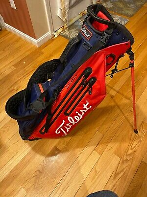 Titleist Golf Players 4UP StaDry Stand Bag 3.9 Lbs Red/Navy Blue