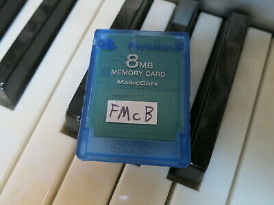 FMCB on rare transparent Official Sony Memory Card. Free Mcboot PS2 playstation2