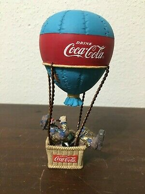 Coca Cola Emmett Kelly Clown In Air Balloon Look Up America Limited Ed, 1994