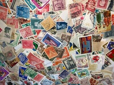 Lot Over 400 Worldwide Stamps Off Paper with Bonus