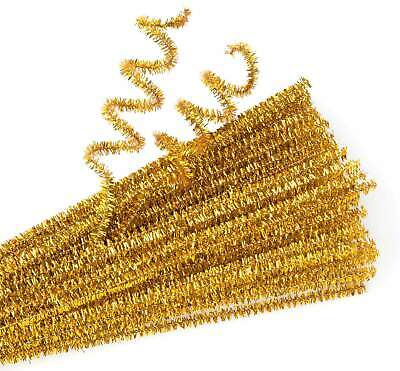 Gold Chenille Stems - Pack of 100