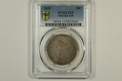 1819 Capped Bust Half Dollar PCGS F15