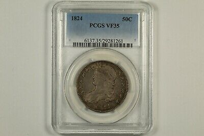 1824 Capped Bust Half Dollar PCGS VF35