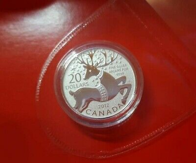 $20 for $20 Fine Silver Coin ~ Magical Reindeer ~ Canadian Mint ~ 2012