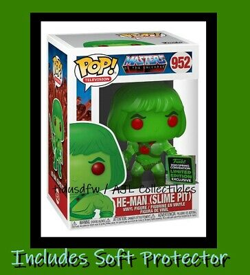 Funko Pop HE-MAN Slime Pit MOTU ECCC SHARED SPRING EXCLUSIVE + Soft Protector
