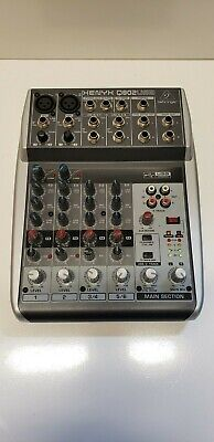 Behringer XENYX Q802USB Premium 8-Input 2-Bus Mixer with Mic Preamps