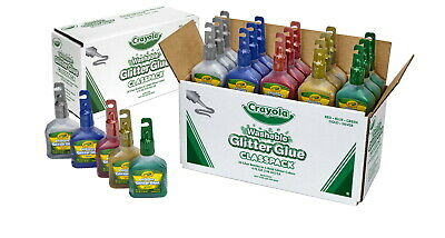 Crayola Glitter Glue Classpack, 4 Ounce Bottles, Assorted Colors, Set of 20