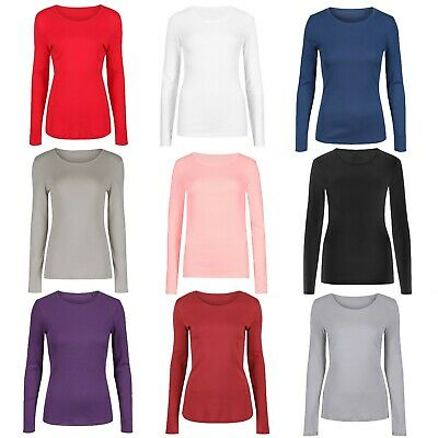 Marks & Spencer Womens Plus Size Pure Cotton Long Sleeve Top New M&S T-Shirt Tee