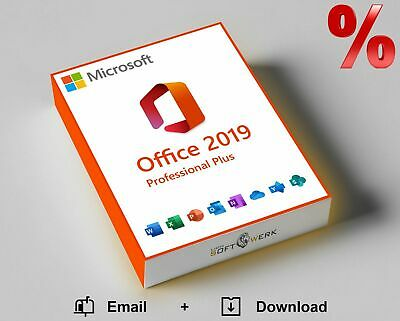 Microsoft Office 2019 Pro Plus Vollversion 32/64-bit ESD Lizenz Key Email