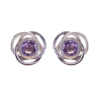 attractive Amethyst 925 Sterling Silver Purple Earring genuine jewellery US gift