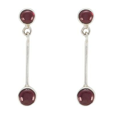 grand Garnet 925 Sterling Silver Red Earring genuine supplies US gift