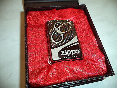 zippo lighter 80th anniversary limited edition armor black ice 12550/41932  new