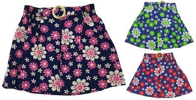 Girls Skirt Mini A-Line Authentic Vintage Daisy Pleat Flower Power 1 to 2 Years