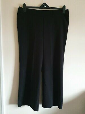 Ladies Black Elasticated Waist Wide Leg Trousers From Evans Size 16