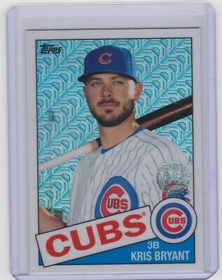 2020 Topps Series 1 1985 35th Silver Chrome Refractor KRIS BRYANT #85C-8 Cubs