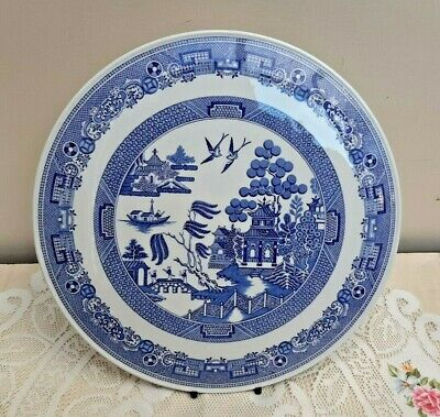"""Spode Blue & White Willow Cake Gateaux Stand 11.5"""" VGC f1683"""
