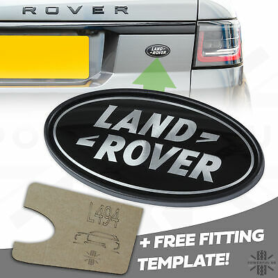 Range Rover Sport SUPERCHARGED Black+Silver rear LAND ROVER badge upgrade L494