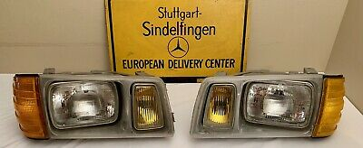 Mercedes Benz W126  American Style Pair Headlights Full Assembly SE SEL SD SDL